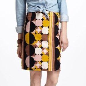 Anthropologie's Maeve Geo Mod Velvet Pencil Skirt